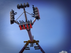 Photo of catapult ride Hereford May Fair