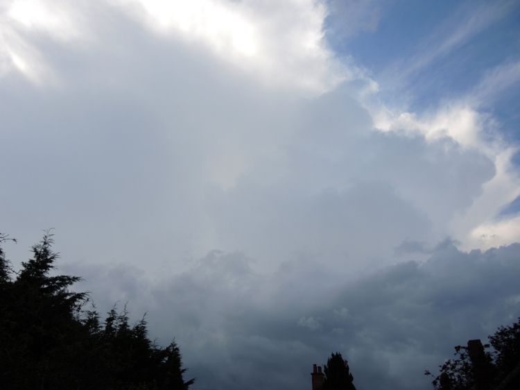 thunderclouds forming